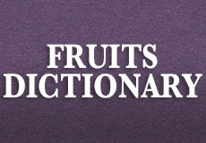 fruits dictionary